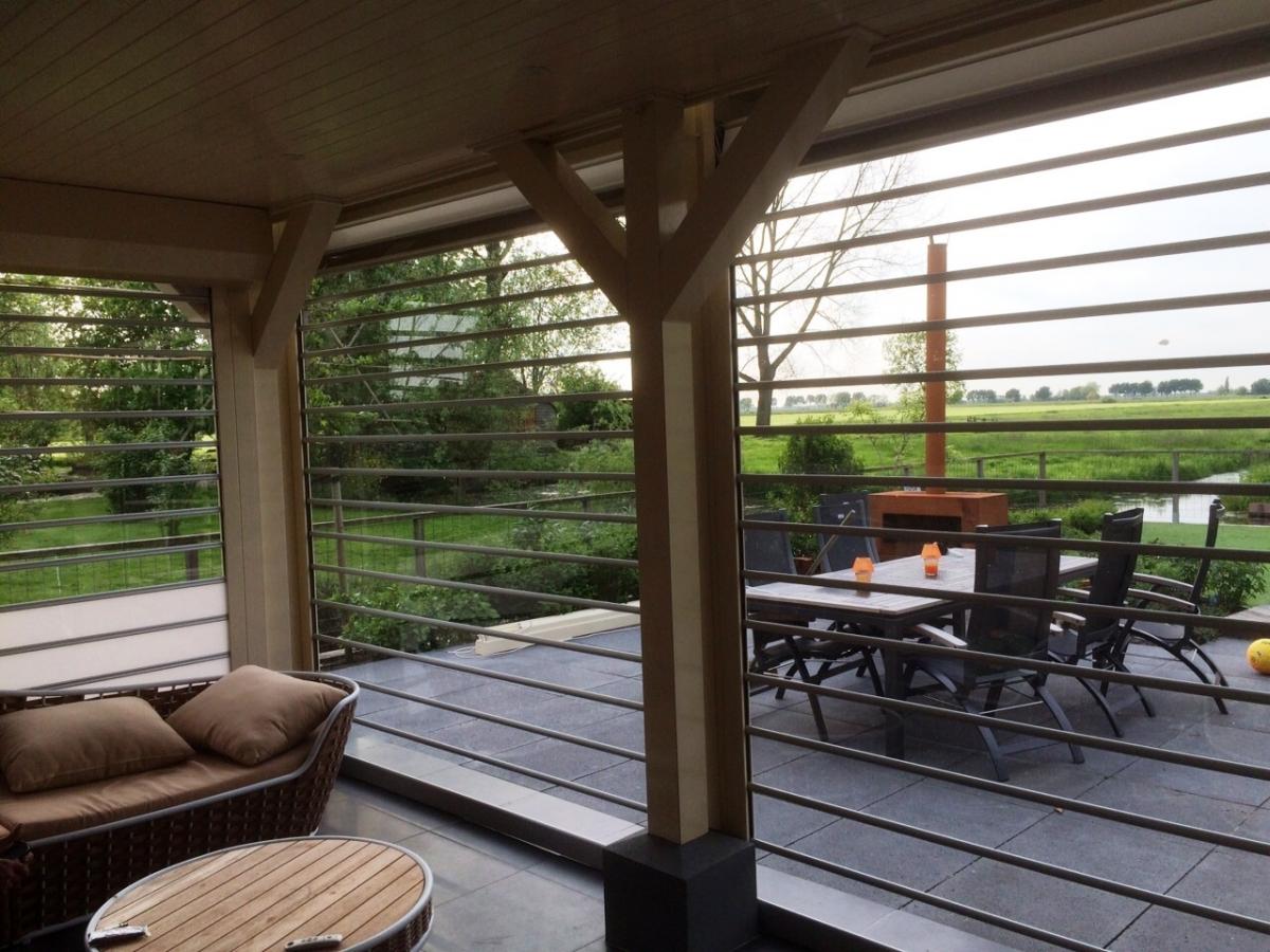 Transparante rolluiken voor woning terras patio lock 39 n roll - Dekzeil transparante terras ...